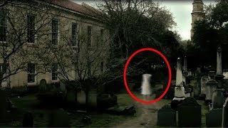 Ghost Sighting From An Old Cemetery Caught LIve On Camera | Real Ghost Footage