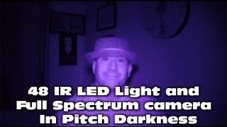 Nightvision Full Spectrum GoPro Paranormal Investigation using 48 IR LED Lights in pitch dark