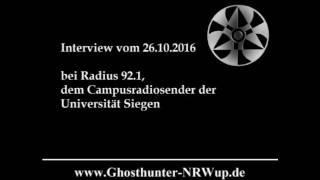 Geisterjäger bei Radius 92,1 Campusradio vom 28.10.2016