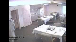 Fantôme filmé dans une maison de retraite
