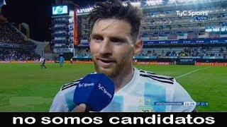 Messi hablo después del partido contra Haiti y dijo ... -  Argentina 4 vs Haiti 0