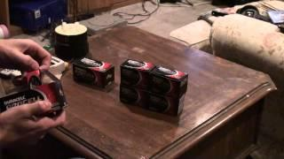 showing the batteries i use for ghost hunting