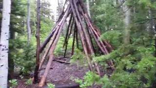 Bigfoot built a huge Teepee! Or maybe not