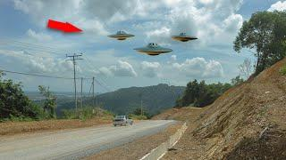 Huge 'UFO' Filmed Hovering Over Malaysian Countryside!!