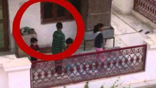GHOST Play with girl!!! Rare ghost footage 2015 Scary Videos