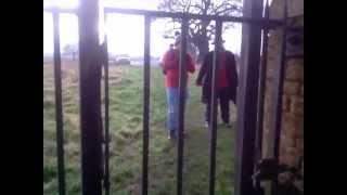 UK-Haunted, Scary Christmas Ghost in Cemetery