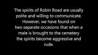 Scary Spirit Box Session at Robin Road Cemetery