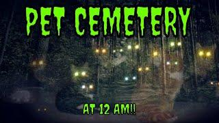 A PET CEMETERY AT MIDNIGHT!! (LOTS CAUGHT ON CAMERA)!!
