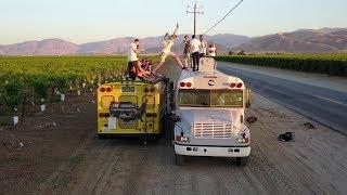 EPIC YOUTUBE BUS TRIP ( fast and the furious Bus hopping )