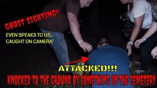 """ATTACKED IN CEMETERY! GHOST SPEAKS TO US """"CAUGHT ON CAMERA""""!!"""