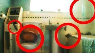 Violent Ghost / Poltergeist Smashes Bathroom. Scary Paranormal Activity