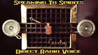 Direct Communication With Spirits using a 1951 Tube Radio