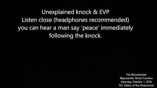 AUDIO   Unexplained knock and EVP of man saying peace