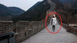 OMG Real Ghost Shadow Caught on Camera Near the Great Wall of China
