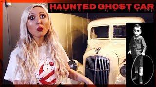 OVERNIGHT IN A HAUNTED GHOST CAR.. **SCARY** Ghost Caught on Camera