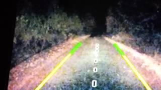 Bigfoot Chases car in Colorado Enhanced, Slowed down and Zoomed in