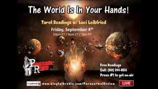 Paranornal Review Radio:  LIVE Tarot readings with Luci