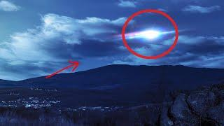 OMG!! Flying Object Like UFO Caught On Tape In Clouded Sky!!