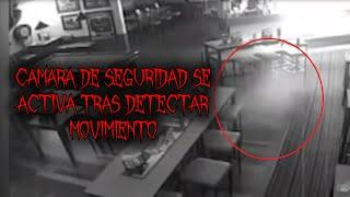 Camara de seguridad se activa tras movimiento y capta el fantasma de una niña