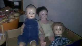 Eyes Blinking Haunted 2 Dolls And A Head (Night Two) 3 31 15 Update