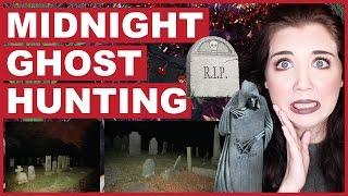 Midnight Ghost Hunting At A Graveyard