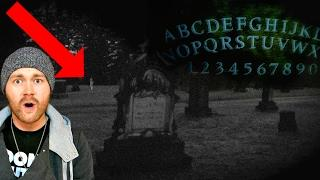 Playing The OUIJA BOARD In A CEMETERY And HAUNTED PLACE For 100k Subscriber Special!