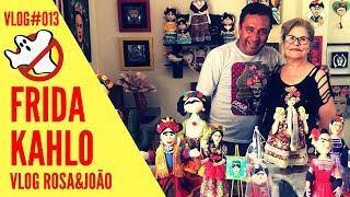 FRIDA KAHLO Formas e Kores  Vlog#013 Rosa&João - Caça Fantasmas Brasil