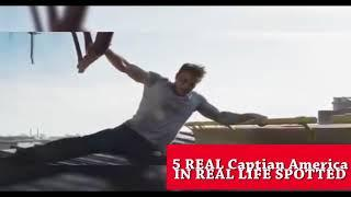 5 REAL CAPTAIN AMERICA CAUGHT ON CAMERA & SPOTTED IN REAL LIFE!