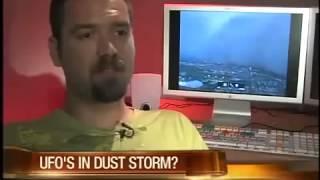 Ovnis dentro de una tormenta de Arena  Julio 2011