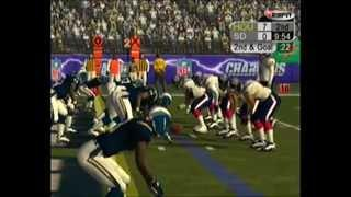 NFL 2k5 San Diego Chargers Vs Houston Texans AFC divisional playoff game Full 60 minute game
