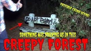 CREEPY FOREST...WE FOUND POSSIBLE CRIME SCENE LOCATION!!