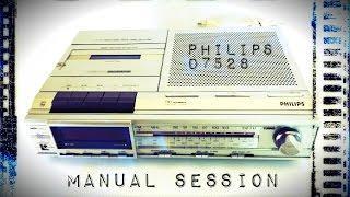 RETRO PHILIPS D7528   MANUAL SPIRIT BOX SESSION  