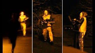 Chased By KILLER Clown With Chainsaw | Real MASSACRE Caught On Camera | Scary HAUNTED House (Funny)