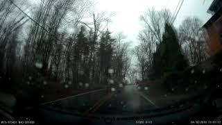 allentown road flooded by rain dashcam view
