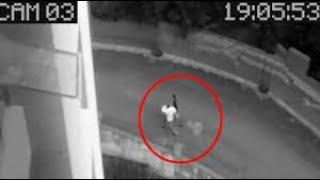 Ghostly Shape Passing Caught on Camera From a Haunted Building, Scary Videos