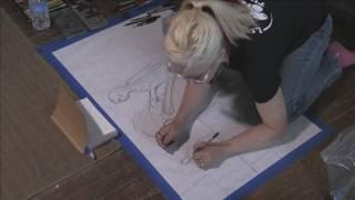 Psychic Sketch at the Haunted Hinsdale HOuse