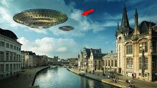Two UFO With Search Lights Caught On Tape Over Belgium | Latest UFO Sightings 2016