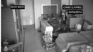 Ghost caught on tape in the basement - Ghost caught on CCTV camera
