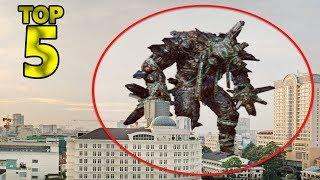5 REAL GIANTS CREATURES CAUGHT ON CAMERA & SPOTTED IN REAL LIFE! 2