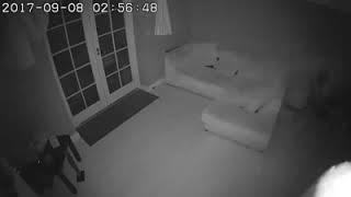 Video amateur  apparition fantome dans une  maison
