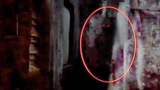 Red Eye Ghost Footage From An Abandoned Building!!