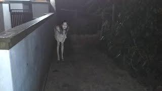 Scary Child Creature Spotted From My House Front Yard!! Paranormal Activity Caught On Video!!