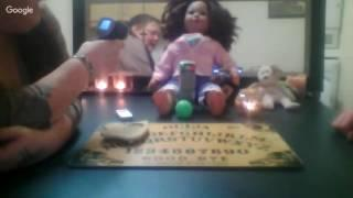 ZOZO ZAZA MAMA EGGBURT LIVE OUIJA BOARD WITH A CREEPY DOLL