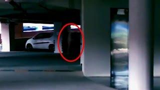 Unnatural Shadow In Parking Area | Scary Videos | Ghost Caught On Tape