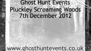 Pluckley Screaming Woods real ghost voice EVP