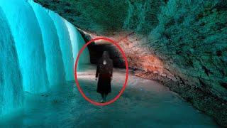 OMG Is It Real!! Ghost In Ice Cave Caught On Tape In The Austrian Mountains