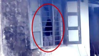 Girl Ghost With Long Hair Caught On Camera Near A Window!!