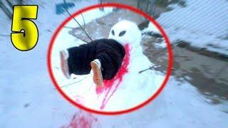 5 MONSTER SNOWMAN CAUGHT ON CAMERA MOVING & SPOTTED IN REAL LIFE!