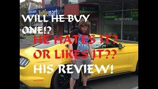 SUPER FUNNY - My Friend review(Opinion) of my 2017 Ford Mustang Ecoboost - HE IS BUYING ONE NOW?