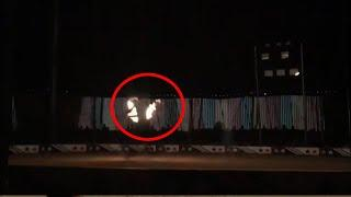 A Night Spent Alone At One Of Haunted Apartment Balcony!! Ghost Caught On Tape!!